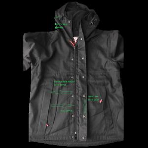 The Full Open Man Autumn Jacket With Hood